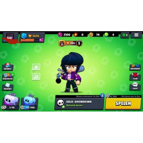 5K Brawl Stars account + Leon